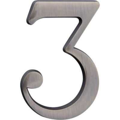 Número para casa #3 plateado
