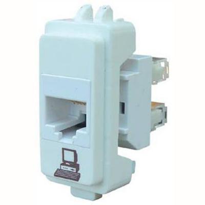 Módulo conector de datos RJ45 blanco Genesis