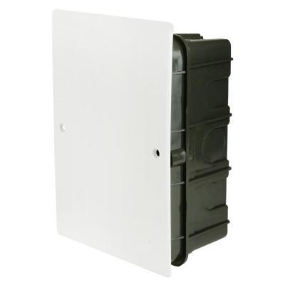 Caja de distribución embutida con tapa 165x115 mm plástico