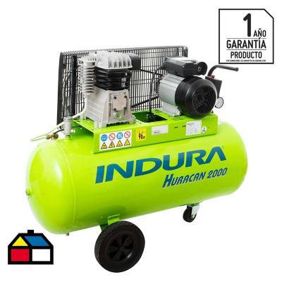 Compresor de aire portátil 2 HP 100 litros