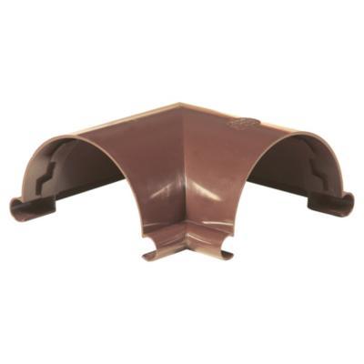 Esquinero canaleta PVC marrón