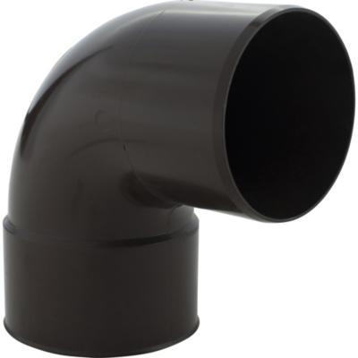 Codo 87,5° PVC para tubo bajada, marrón