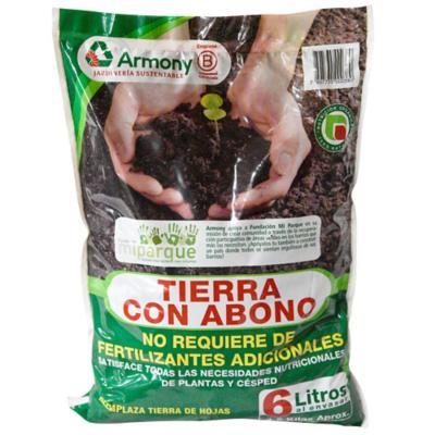 Tierra con abono para jardín 6 litros bolsa