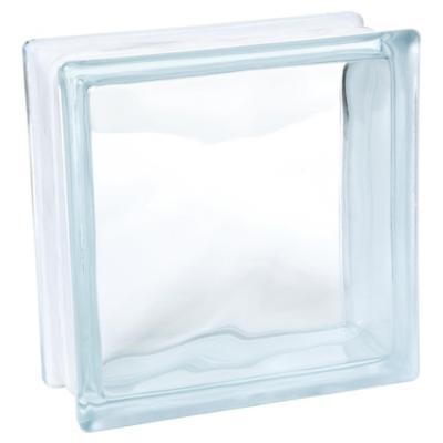 Bloque vidrio incoloro 19x19x8cm New Wave