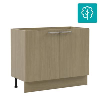 Mueble base 2 puertas sin cubierta