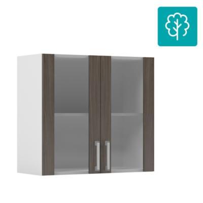 Mueble mural 2 puertas vidrio