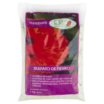 Fertilizante para plantas sulfato de fierro 1 kg bolsa