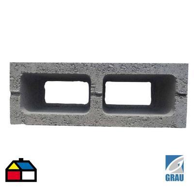 140x190x390 mm Bloque Cemento Liso Gris