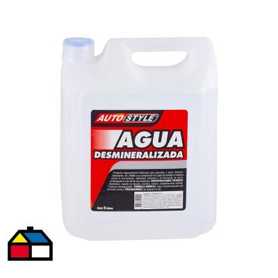 Agua desmineralizada 5 litros bidón