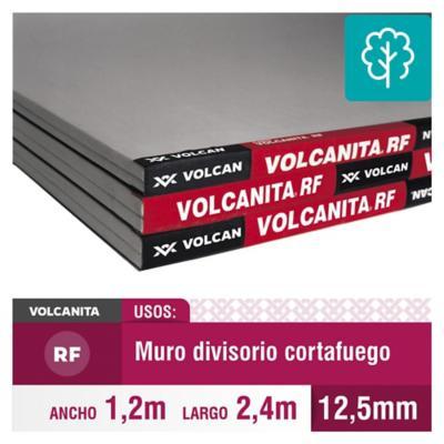 12,5 mm  RF120x240 cm Volcanita borde rebajado
