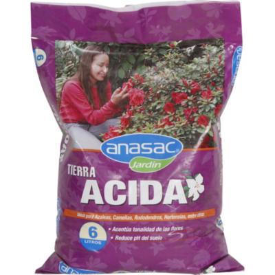 Tierra ácida para jardín 6 litros bolsa