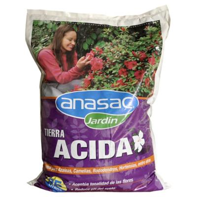 Tierra ácida para jardín 25 litros saco