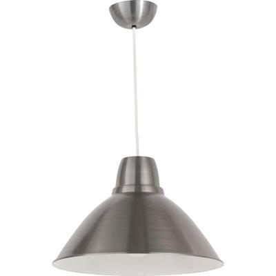Lámpara de colgar Metal Cónica Gris