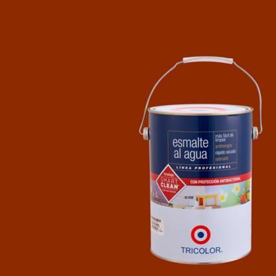 Esmalte al agua satinado rojo colonial 1 gl
