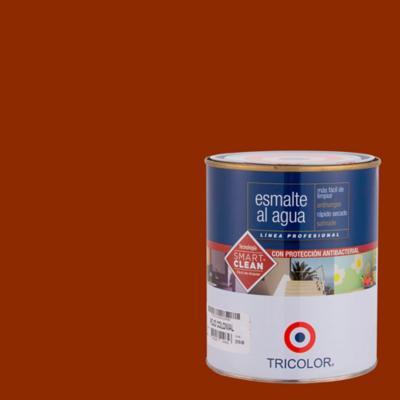 Esmalte al agua satinado rojo colonial 1/4 gl