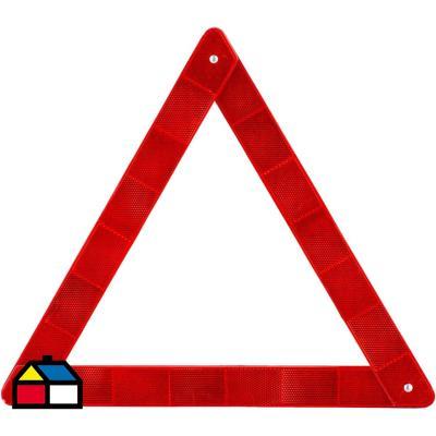 Triángulo reflectante 40x40x40 cm rojo