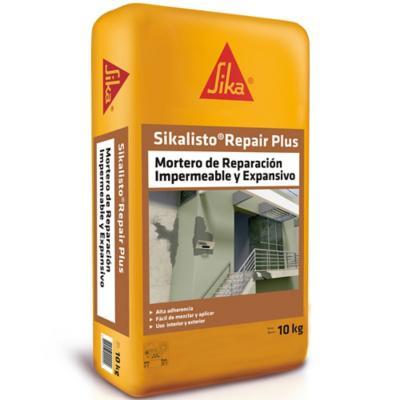 Saco 10 kg Sikalisto Repair Plus, mortero de reparación impermeable y expansivo