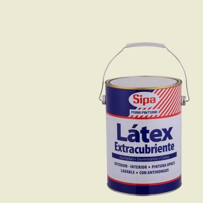 Pintura látex extracubriente blanco hueso  1 gl