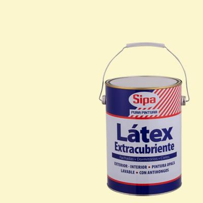 Pintura látex extracubriente marfil 1 gl
