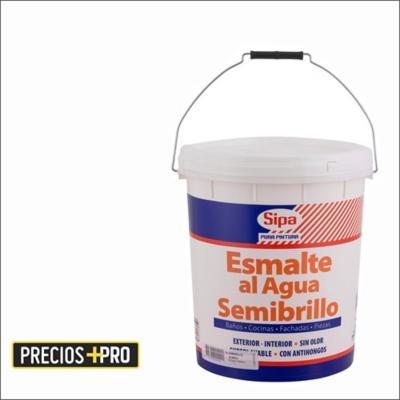 Esmalte al agua semibrillante blanco 5 gl