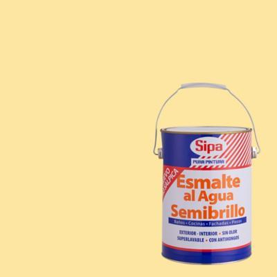 Esmalte al agua semibrillante crema 1 gl