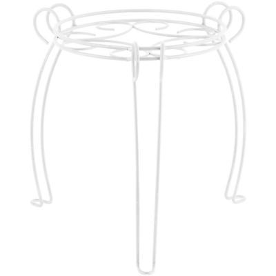 Portamacetero mesa de metal 37 cm blanco