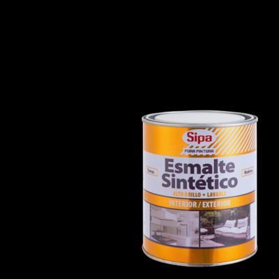 Esmalte sintético brillante 1/4 gl negro