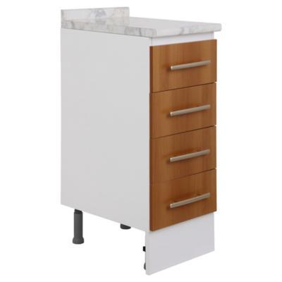 Mueble base 35x85x49 cm melamina canela
