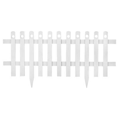 Cerco estaca de madera 100x40 cm Blanco