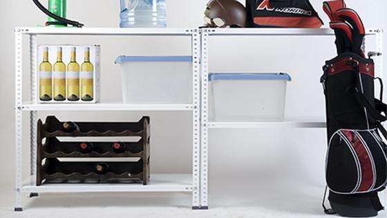 Estante 90x30x10 cm metal blanco 5 repisas Fixser