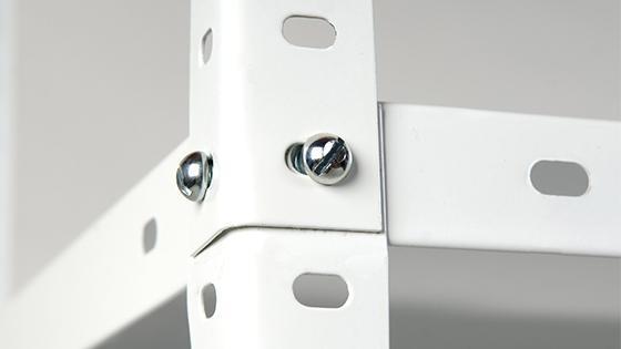 Estante 90x30x180 cm metal blanco 5 repisas Fixser
