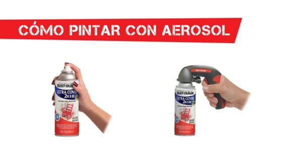 aerosol, pintura aerosol, spray, pintura spray, comfort grip, gatillo, gatillo spray, multiusos, rust oleum, ultra cover, montana, mtn, colores