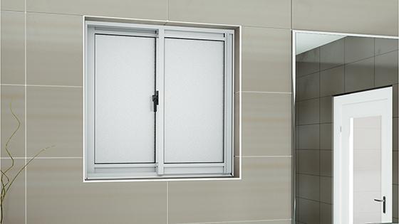 Ambientación ventana corredera aluminio monolítica
