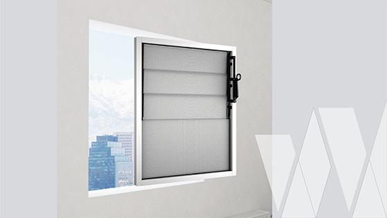 Ambientación ventana celosía aluminio