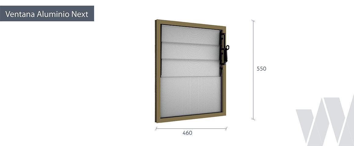Medidas ventana celosía aluminio