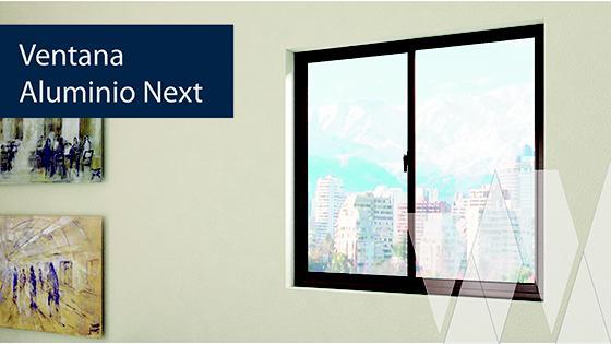 Ambientación ventana corredera aluminio termopanel