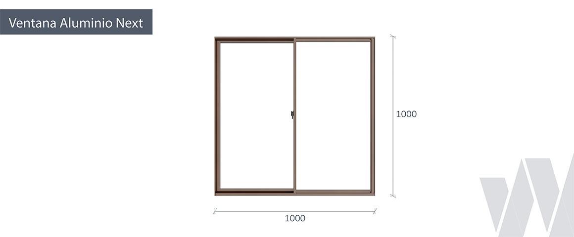Medidas ventana corredera aluminio termopanel