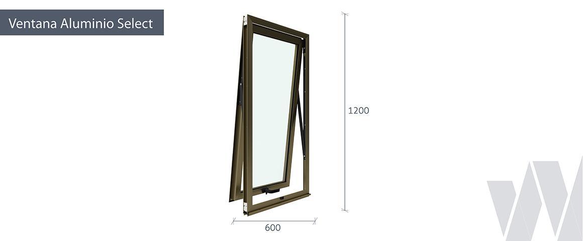 Medidas ventana proyectante aluminio select monolítica