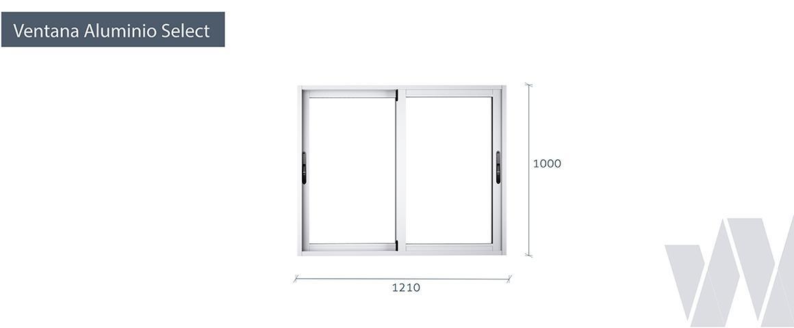 Medidas ventana corredera aluminio premium select termopanel