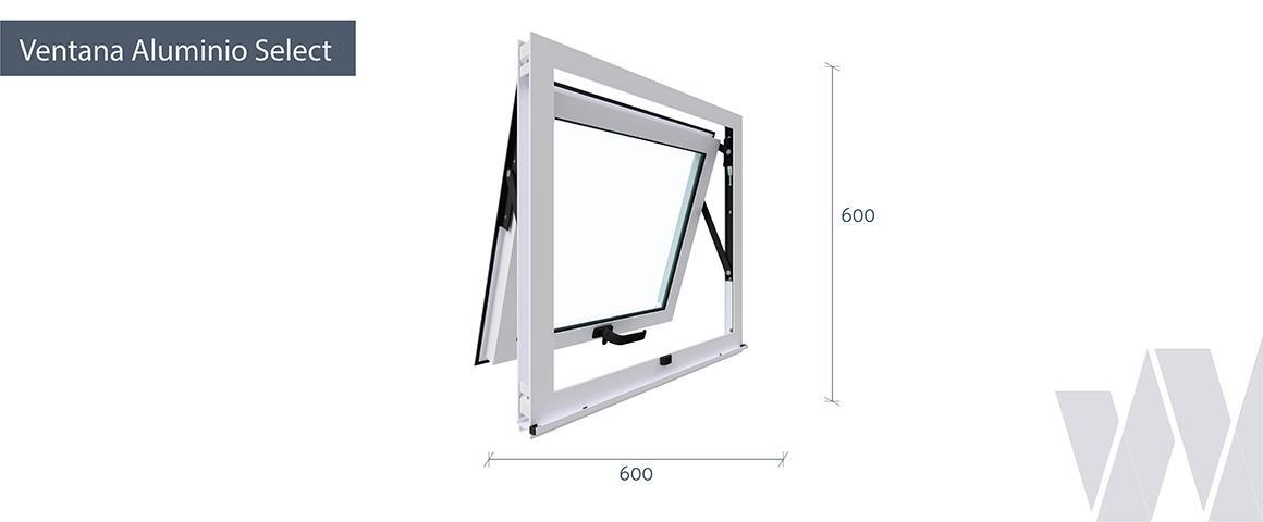 Medidas ventana proyectante aluminio select termopanel
