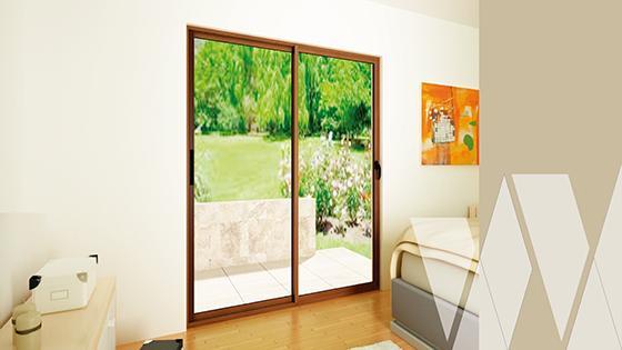 Ambientación ventanal corredera aluminio termopanel