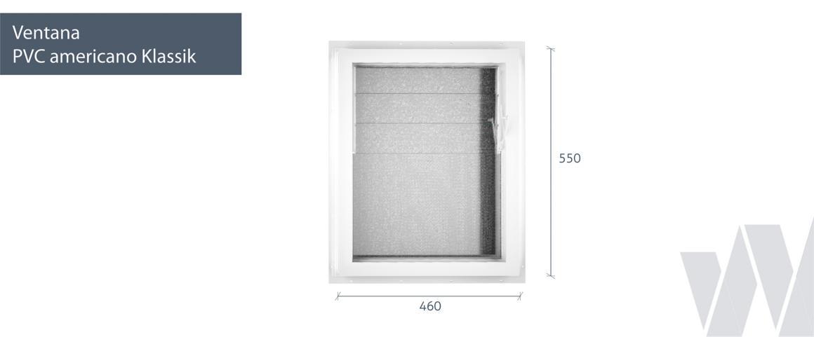 Medidas ventana celosía PVC KLassik
