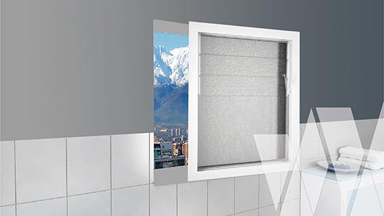 Ambientación ventana celosía PVC Klassik