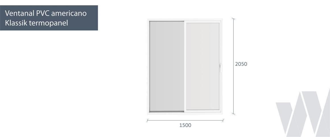 Medidas ventanal corredera PVC Klassik termopanel