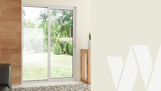 Ambientación ventanal corredera PVC Klassik termopanel