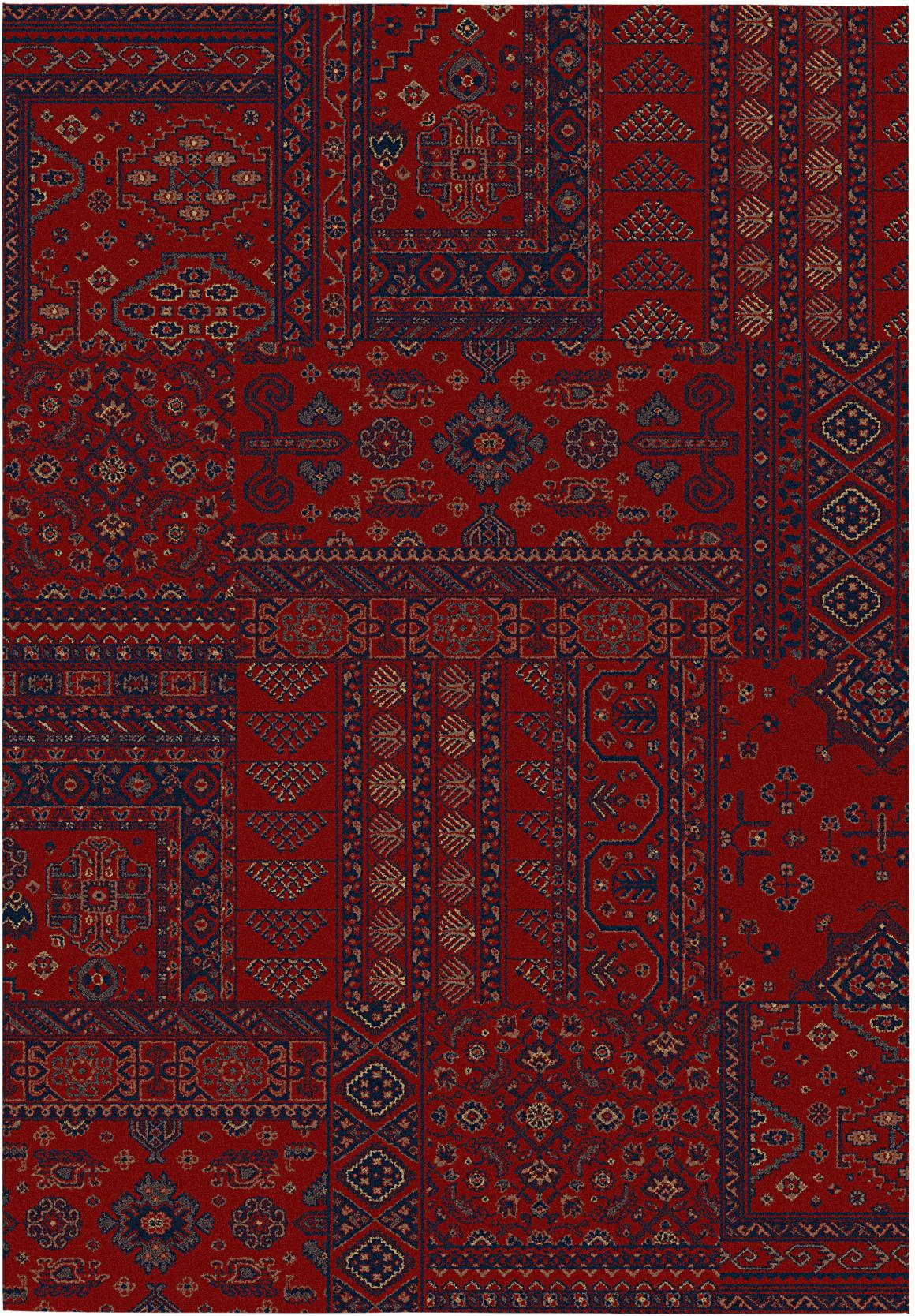 Alfombra Kirman 160x230 cm burdeo TOP