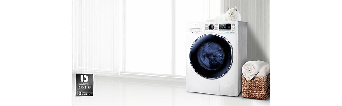 Lavadora-secadora Samsung con tecnología Eco Bubble, 10.5 kg