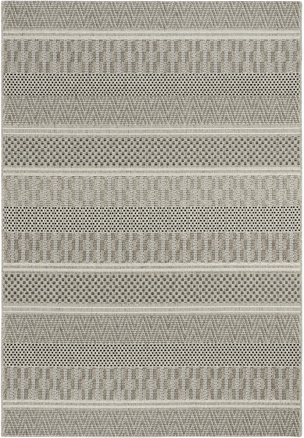 Alfombra Rayas 160x230 cm gris TOP