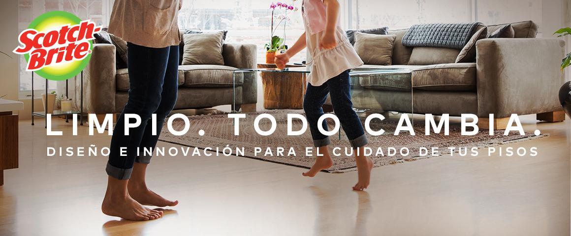 Limpio todo cambia, diseño e innovación para el cuidado de tus pisos.