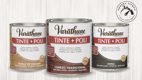 tinte madera, pintura madera, tinte poli, poliuretano, barniz, varathane, rust oleum, madera, protección madera